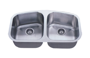 LB 500 ESI Double 18 Gauge Stainless Dual Size Tapered Bowl Undermount Kitchen  Sink