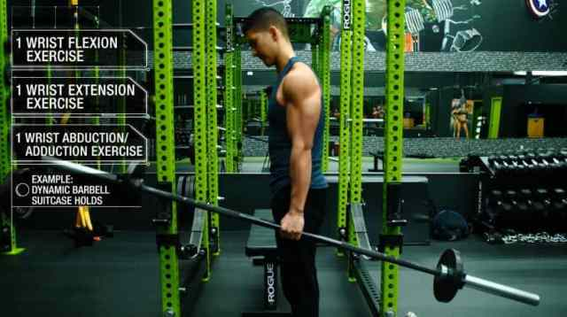 How to work out forearms dynamic barbell suitcase holds