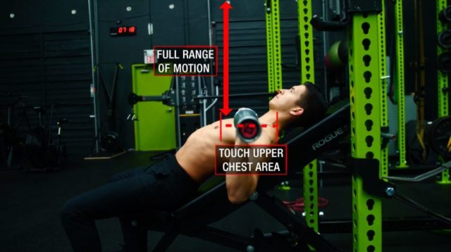 Incline barbell bench press form