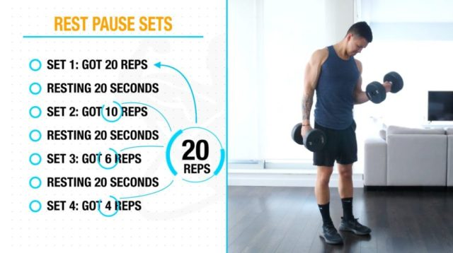 How to perform rest pause sets