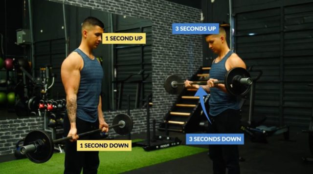 Build more muscle at home lifting slower
