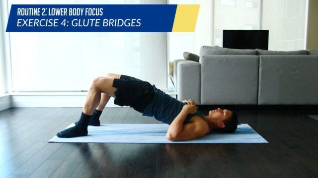 Posture correction routine exercise glute bridges