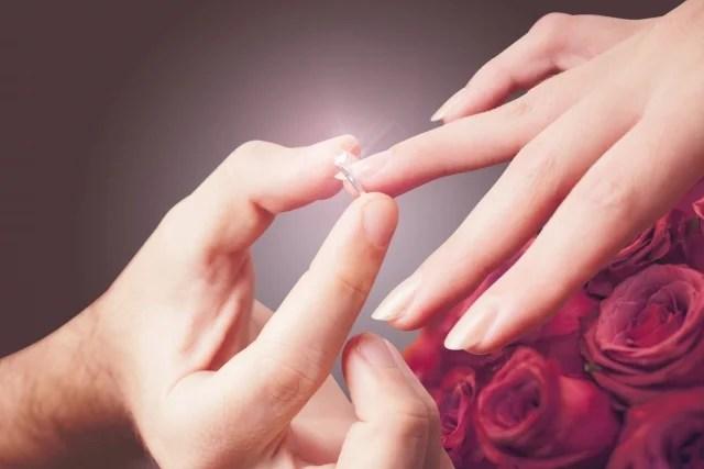 彼女に贈る指輪…どの指につける?意味・サイズの測り方