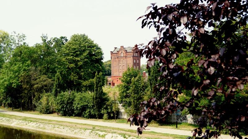 Widok na dawną fabrykę Bidermanna