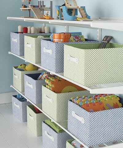 15 ideas para organizar las cosas de los ni os - Cestas para guardar juguetes ...