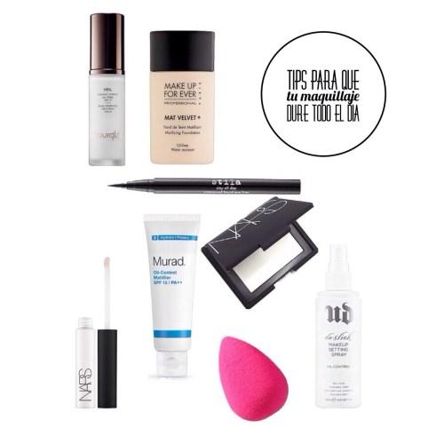 tips para que el maquillaje dure todo el día