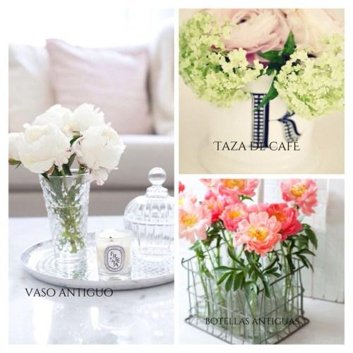 formas de presentar las flores en casa