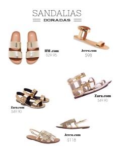 Shopping Guide: Sandalias doradas para un verano brillante