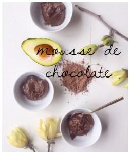 Para Celebrar: Mousse de chocolate con aguacate