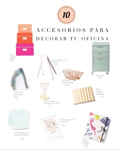 Shopping Guide : 10 Accesorios para Decorar tu Oficina