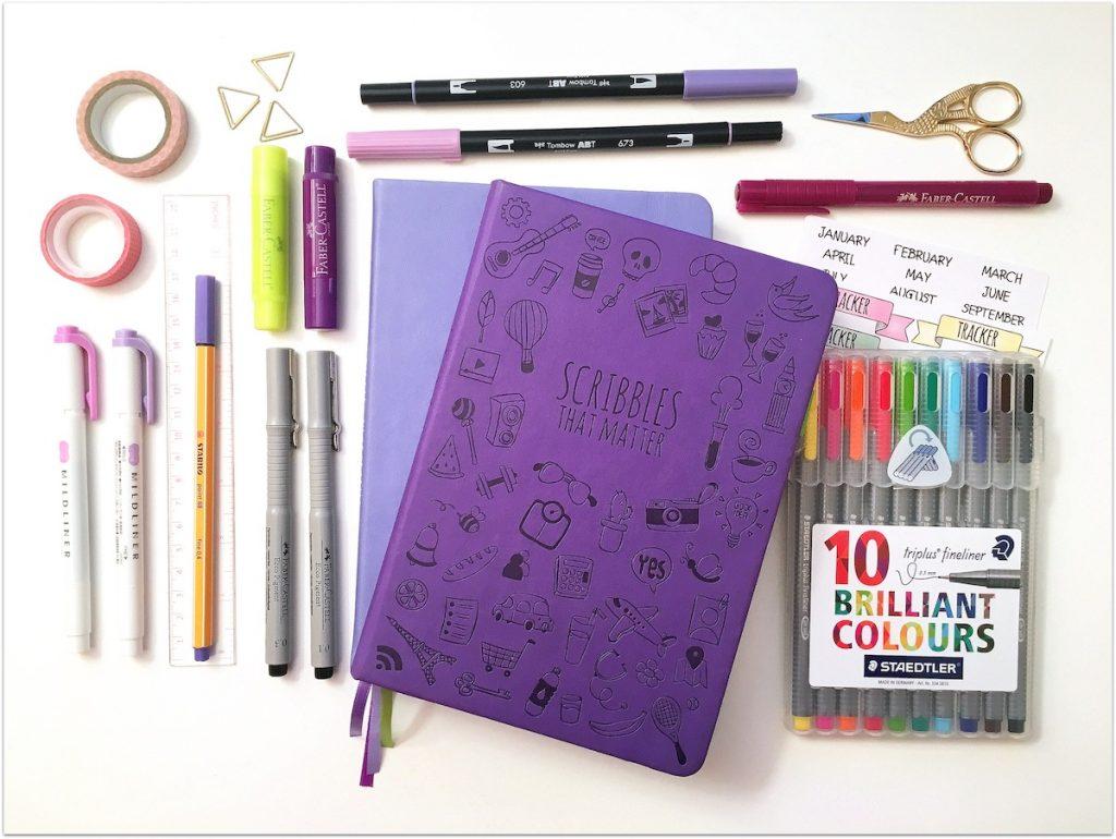 Αγαπημένα εργαλεία για το bullet journaling
