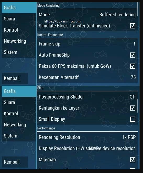 cara setting ppsspp agar tidak lag