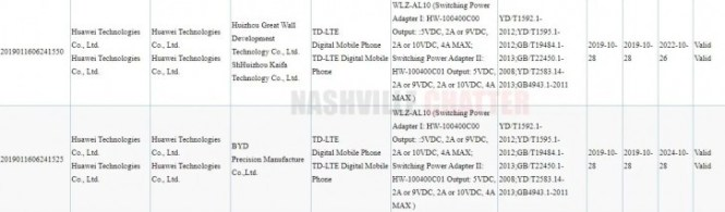 Huawei nova 6 bags 3C certification with 40W charging support