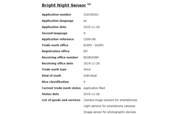 Bright Night Sensor patent details