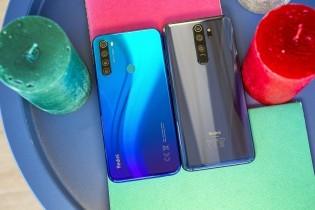 Xiaomi Redmi Note 8 next to Redmi Note 8 Pro