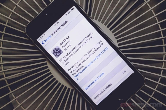 Apple releases iOS 12.4.4 for the iPhone 6s, 6 and 5s