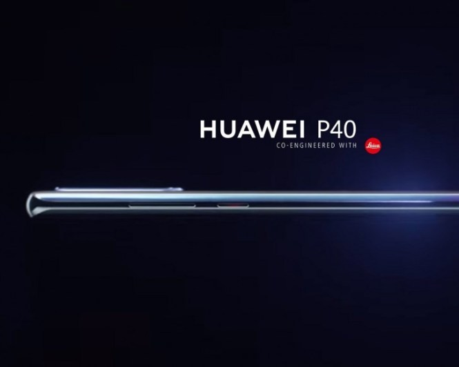 Huawei P40's first render leaks, to feature a curved 6.57'' screen