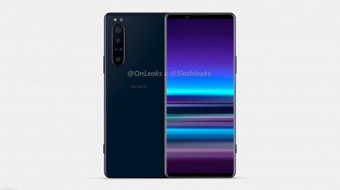 Leaked Sony Xperia 5 Plus render