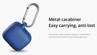 Realme Buds Air Iconic Cover comes with a metal carabiner