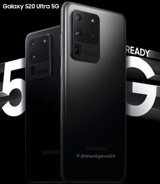 Samsung Galaxy S20 Ultra 5G official poster surfaces, tipped to arrive with 45W Fast Charger