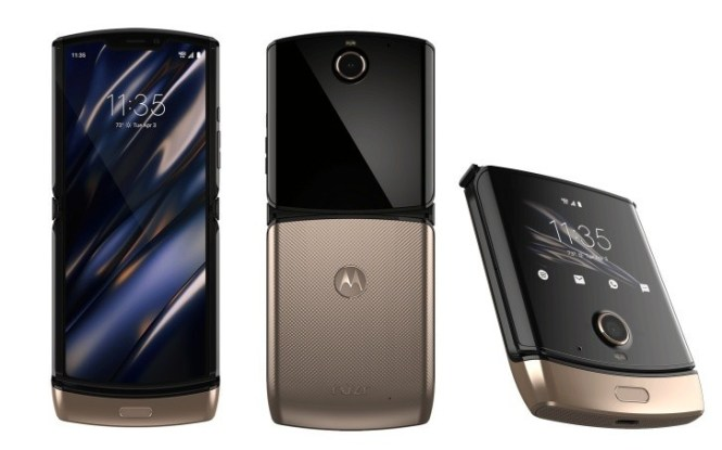 Motorola Razr 2019 renders show out new gold color