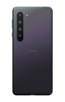 Sharp Aquos R5G in blue, black and white colors