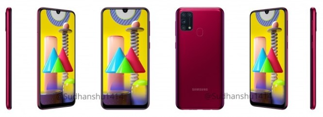 Samsung Galaxy M31 press renders leak in three colors alongside full specs