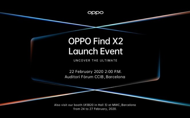 Oppo Find X2 coming on February 22