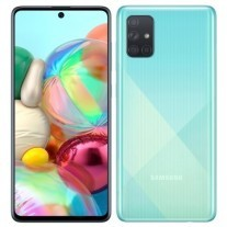 Samsung Galaxy A71 in Prism Crush Blue color