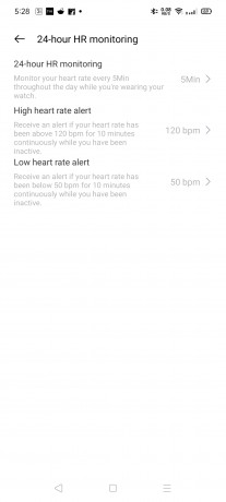 Realme Watch can measure heart rate manually and automatically