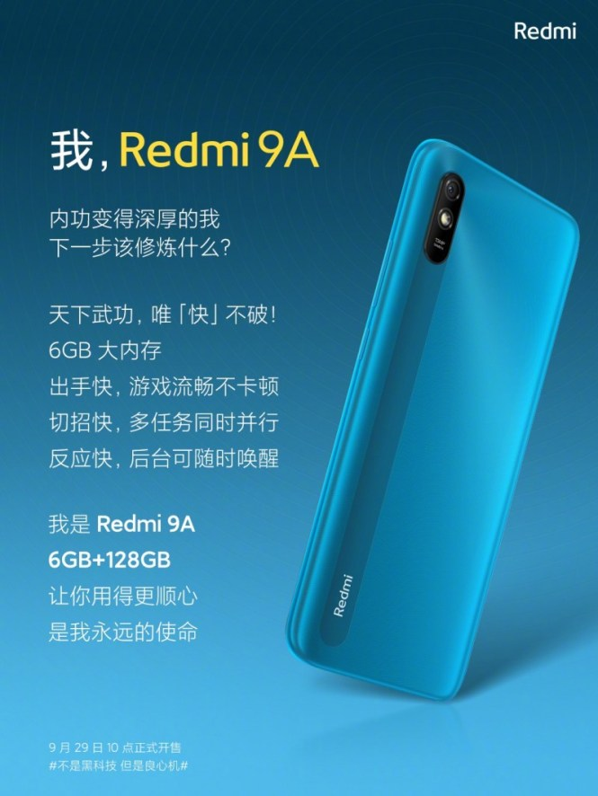 Xiaomi unleashes the power, launches the affordable Redmi 9A with 6 GB RAM