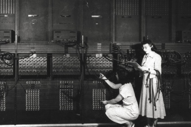 ENIAC - One of the first electronic programmable computers in the world. Less powerful than the AirPods.