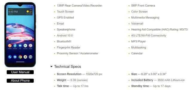 New Moto E7 listing