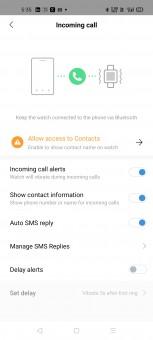 Incoming call alerts