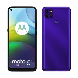 moto g9 power in Electic Violet and Metallic Sage