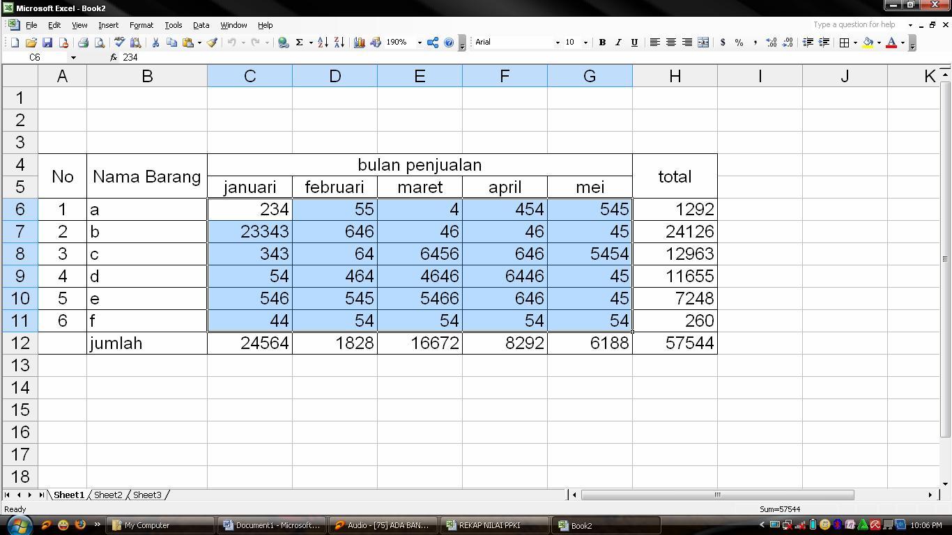 Worksheet Microsoft Excel Adalah