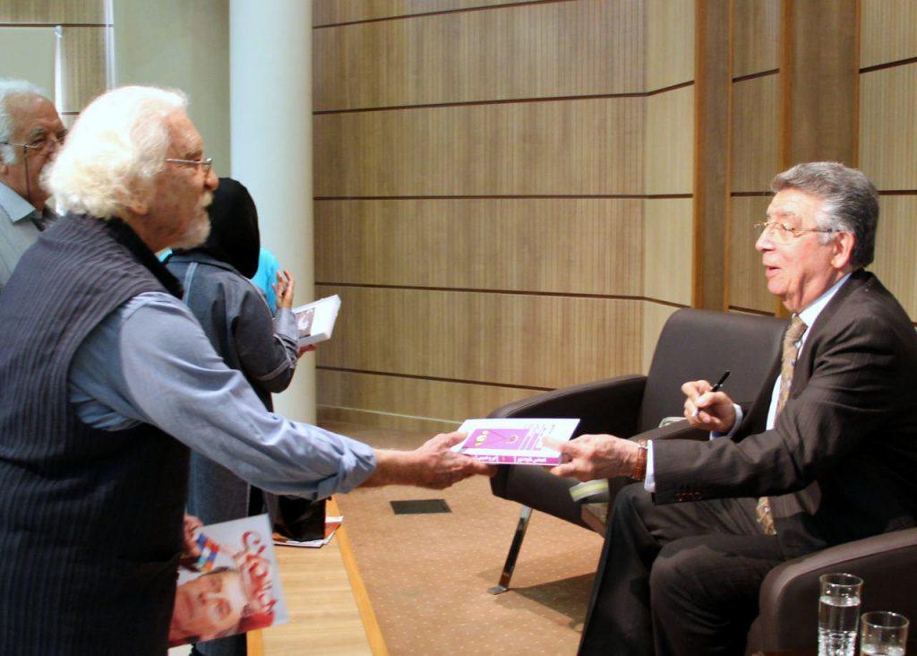 دکتر داریوش شایگان و ایرج امینی - عکس از مریم اسلوبی