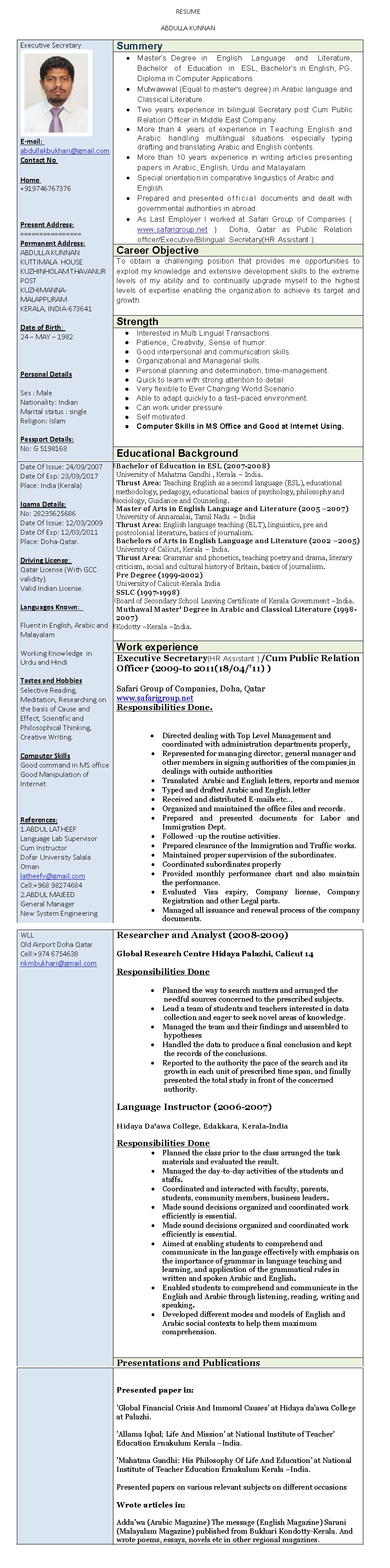Unit Secretary Resume No Experience Cover Letter Letters Yazh Co