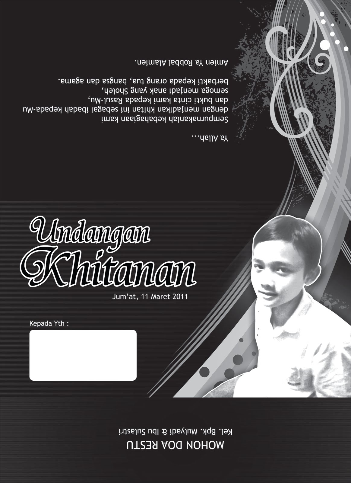 Contoh Design Undangan Khitanan Bukhory Print