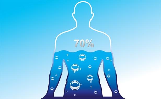 70 procentų kūno vanduo