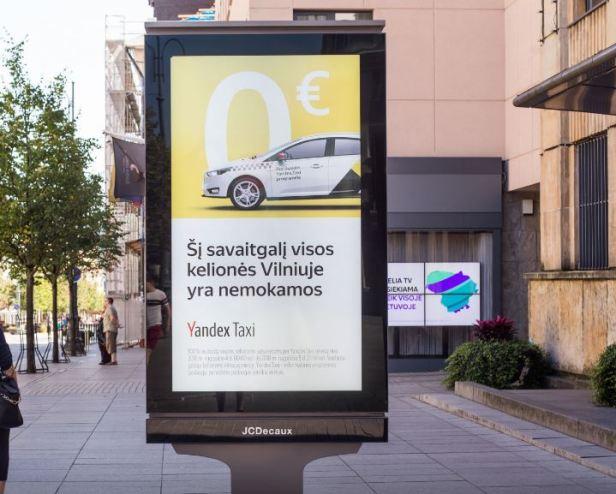 Yandex taxi nemokamai