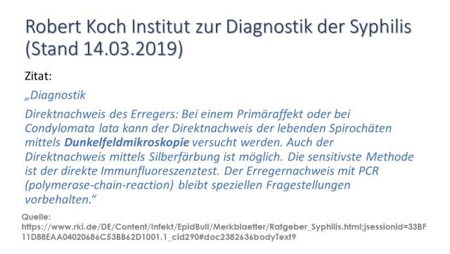 RKI Diagnostik Syphilis