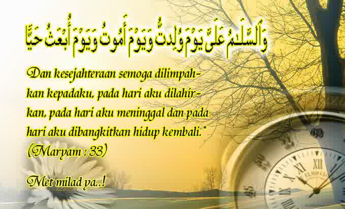 kata ucapan selamat ulang tahun islami