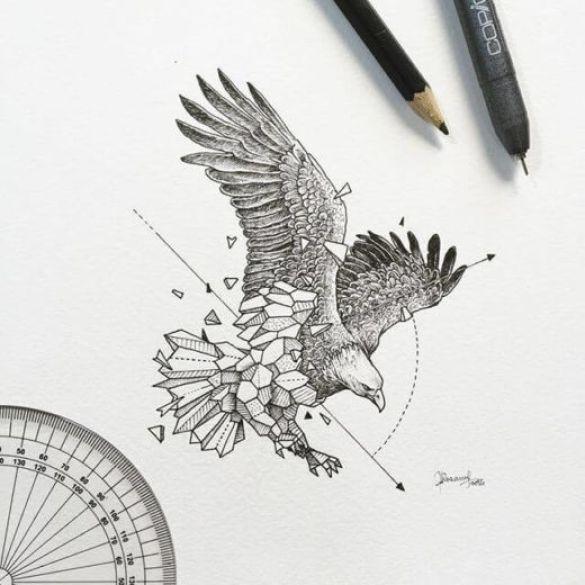 gambar sketsa burung hantu