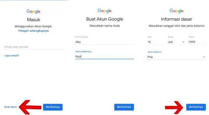Cara Membuat Email Gmail Menggunakan Aplikasi Smartphone
