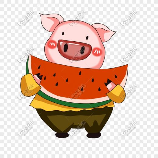 animasi hewan babi lucu