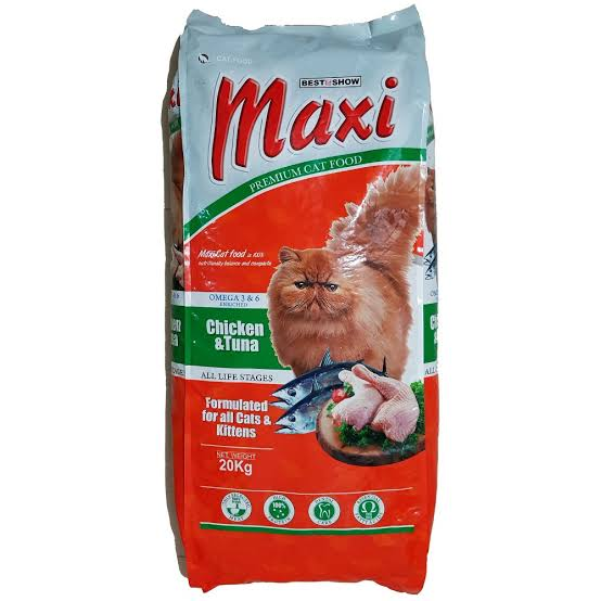 merk makanan kucing maxi