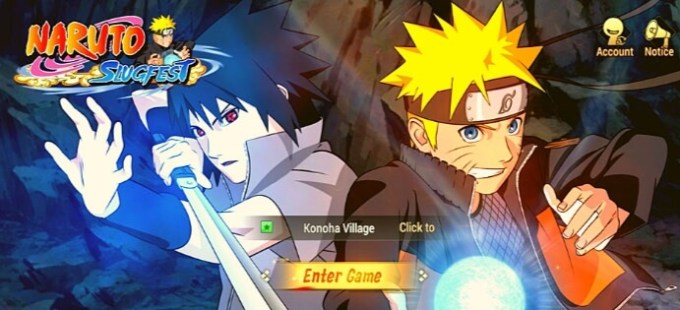 game online android Naruto Slugfest