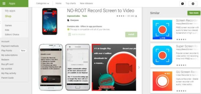 NO-ROOT Record Screen to Video