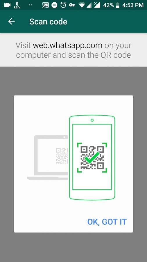 muncul instruksi simple untuk scan qr kode whatsapp web